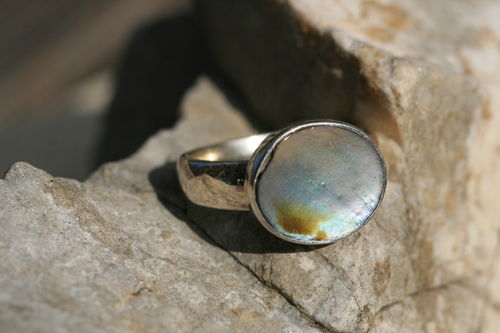 Abalone Silberring 02