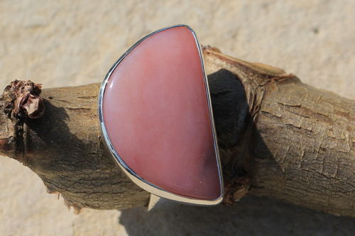 Pinkopal (Andenopal) Silberring